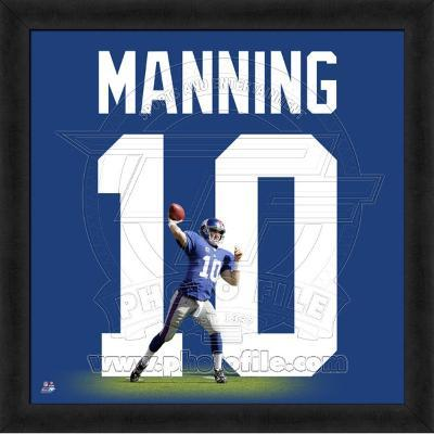 Eli Manning, Giants photographic representation of the player's jersey