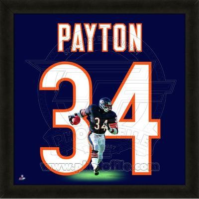 NFL Walter Payton, Bears photographic representation of the player's jersey