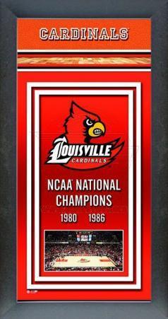 University of Louisville Basketball Framed Championship Banner