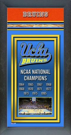 2010 UCLA Bruins Framed Championship Banner