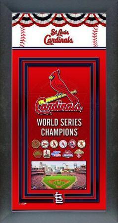 St. Louis Cardinals Framed Championship Banner