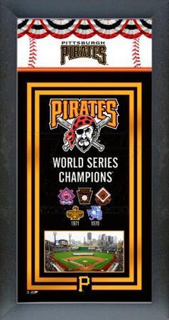Pittsburgh Pirates Framed Championship Banner