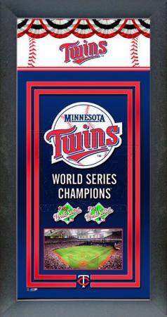 Minnesota Twins Framed Championship Banner