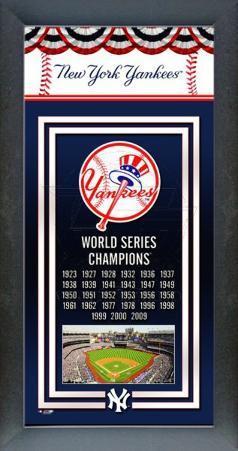 New York Yankees Framed Championship Banner