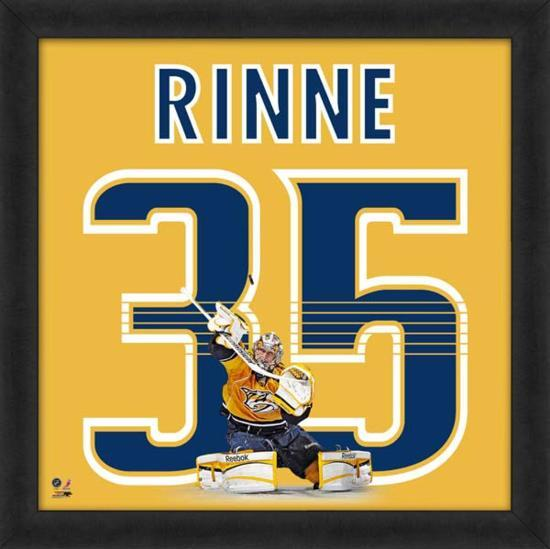 huge discount b9d8d e5eee Pekka Rinne, Predators representation of the player's jersey