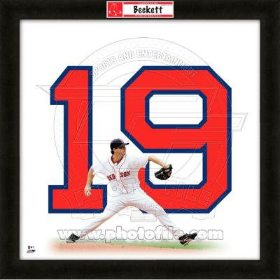 Josh Beckett, Red Sox representation of the player's jersey