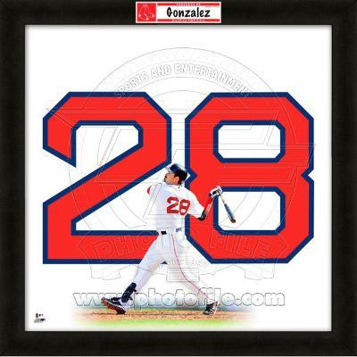 Adrian Gonzalez, Red Sox representation of the player's jersey