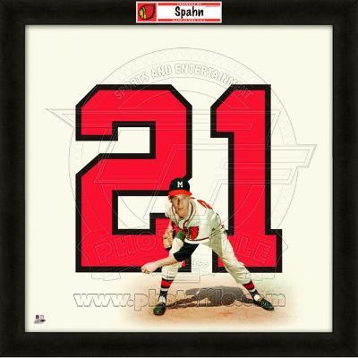 Warren Spahn, Braves representation of the player's jersey