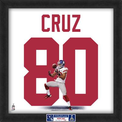 Limited Edition: Victor Cruz, Giants representation of the player's jersey