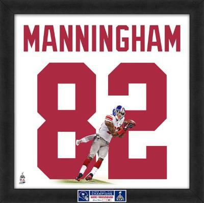 Limited Edition: Mario Manningham, Giants representation of the player's jersey