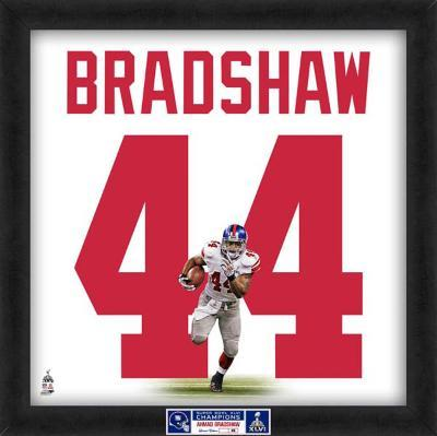 Limited Edition: Ahmad Bradshaw, Giants representation of the player's jersey