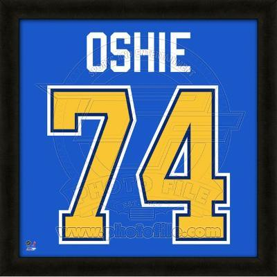T.J. Oshie, Blues representation of the player's jersey