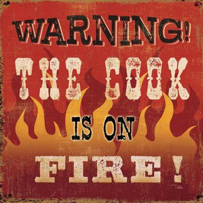 Warning Cook is on Fire