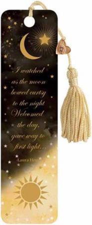 Gold Celestial Beaded Bookmark