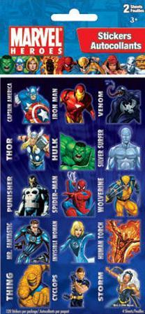 Marvel Heroes #2 4 Sheet Stickers