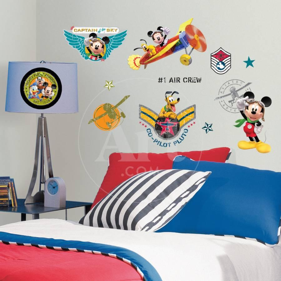 mickey mouse bedroom.htm mickey   friends clubhouse pilot peel   stick wall decals wall  pilot peel   stick wall decals