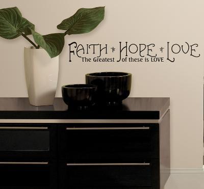 Faith, Hope & Love Peel & Stick Quotable