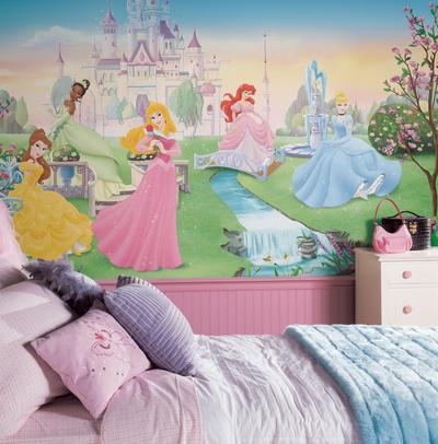 Dancing Princess Chair Rail Prepasted Mural