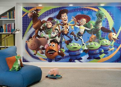 Toy Story 3 Chair Rail Prepasted Mural