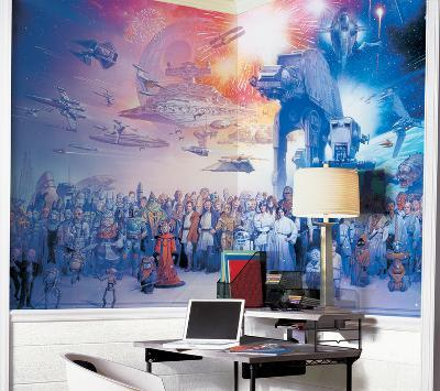 Star Wars Saga Chair Rail Prepasted Mural