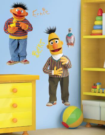 Sesame Street - Burt & Ernie Peel & Stick Giant Wall Decal