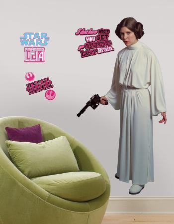 Star Wars Classic Leia Peel & Stick Giant Wall Decal
