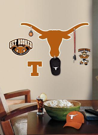 Univ. of Texas Peel & Stick Giant Wall Decal w/Hooks