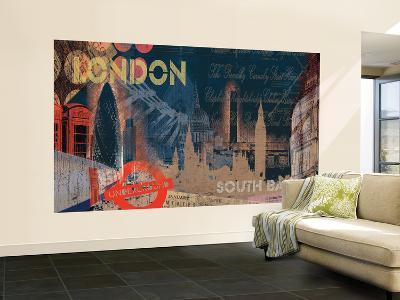 London Chair Rail Prepasted Mural