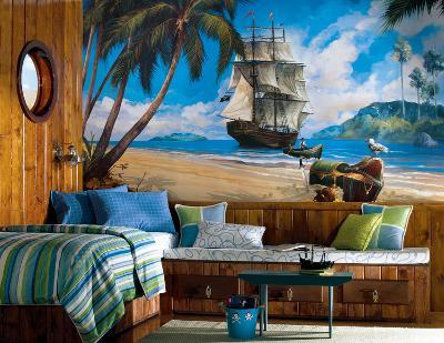 Pirate Chair Rail Prepasted Mural
