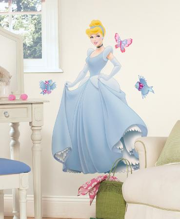 Disney Princess - Cinderella Peel & Stick Giant Wall Decal