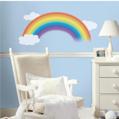 Over the Rainbow Peel & Stick Giant Wall Decal