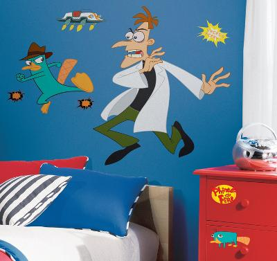 Phineas & Ferb - Agent P Peel & Stick Giant Wall Decal