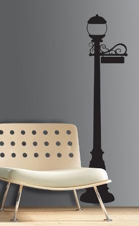 Lamp Post Peel & Stick Giant Wall Decal