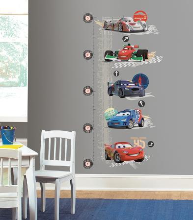 Cars 2 Lightening McQueen Peel & Stick Growth Chart