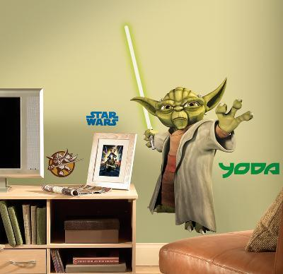 Star Wars - Yoda Peel & Stick Giant Wall Decals