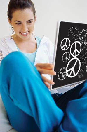 Peace Signs Peel & Stick Laptop Wear