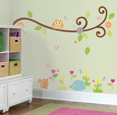 Happi Scroll Branch Peel & Stick Wall Decals
