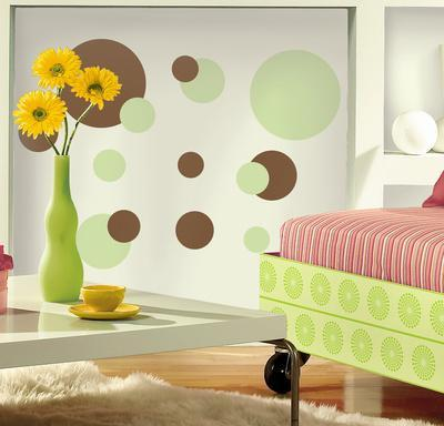 Just Dots Green/Brown Peel & Stick Wall Decals