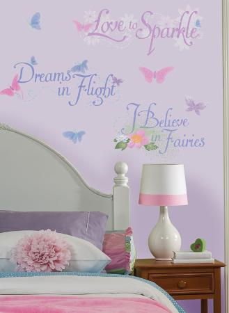 Disney Fairies Phrases Peel & Stick Wall Decals