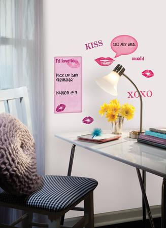 Kisses Dry Erase Peel & Stick Wall Decals