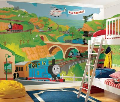 Thomas the Train Size Prepasted Mural 9' x 15'