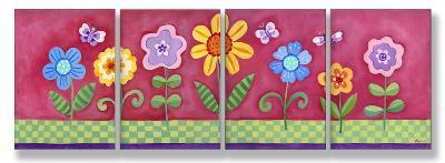 Pink Floral Set of 4