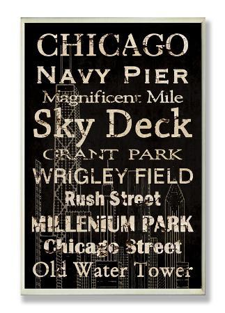 Chicago Cities & Words