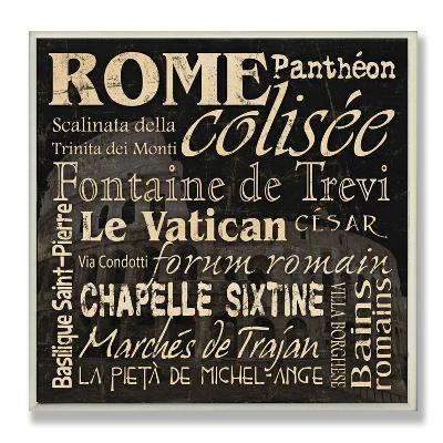 Rome Landmarks Typography