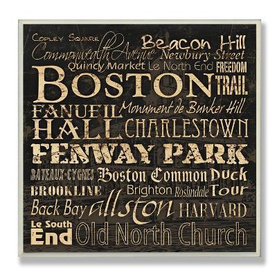 Boston Landmarks Typography