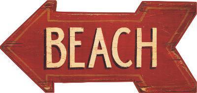 Oversized Red Arrow w/Beach
