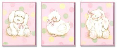 Duck, Bunny and Doggy Plaque Trio