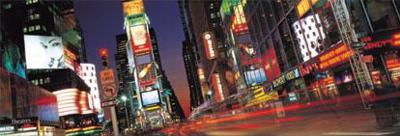New York City - Times Square Lights at Night