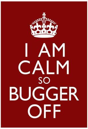 I Am Calm So Bugger Off