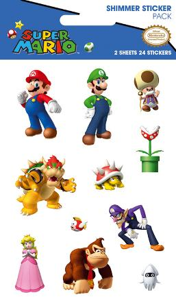 Nintendo Character Shimmer Stickers
